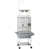 Strong Parrot Cage Villa Helios Silverstone White 46x46x149 cm 93082
