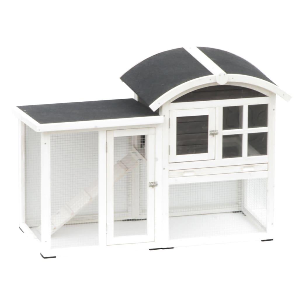 @Pet Cușcă iepuri Piazza, alb și negru, 130 x 62 x 90,5 cm 20085 poza 2021 @Pet