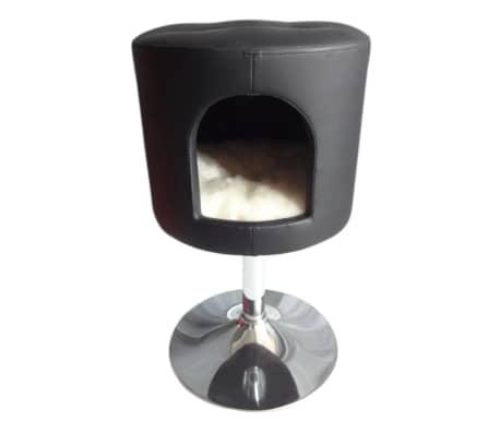 pet canap pour chat joyce 39x39x59 cm noir 10024. Black Bedroom Furniture Sets. Home Design Ideas