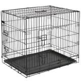 @Pet Hundebur metall 92,5x57,5x64 cm svart 15003