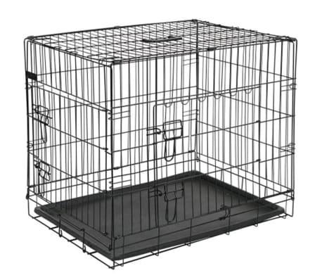 @Pet Kletka za psa kovinska 107x70x77,5 cm črne barve 15004[1/2]
