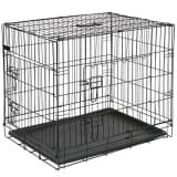 @Pet Dog Jaula de transporte para cães em metal 107x70x77,5 cm preto