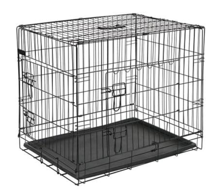 @Pet Kletka za psa kovinska 107x70x77,5 cm črne barve 15004[2/2]