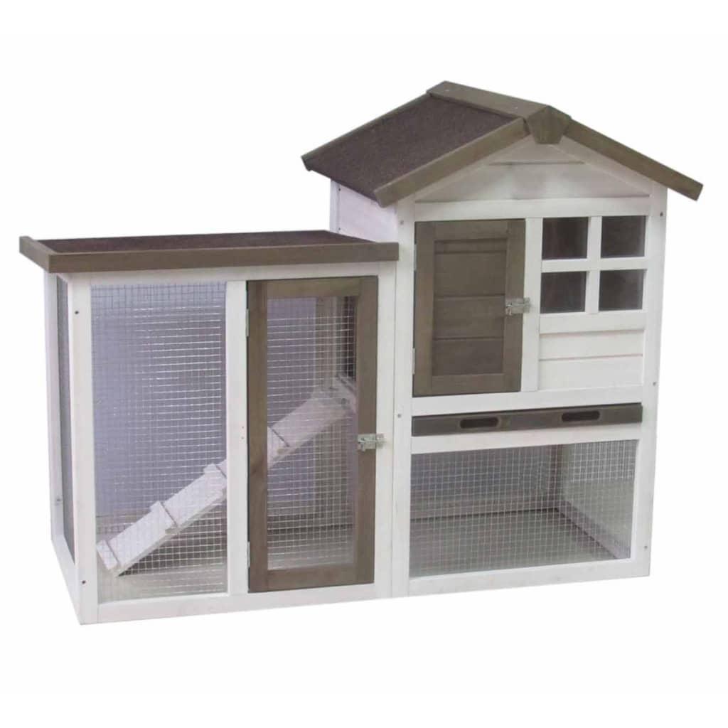 @Pet Cușcă de iepuri Gerlos, alb și maro, 122 x 62 x 93 cm poza 2021 @Pet