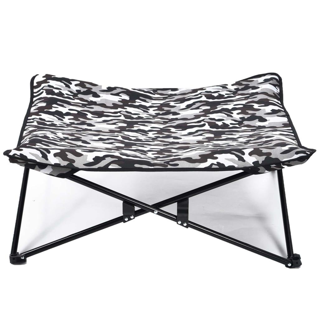 @Pet Hondenligbed camouflageprint grijs