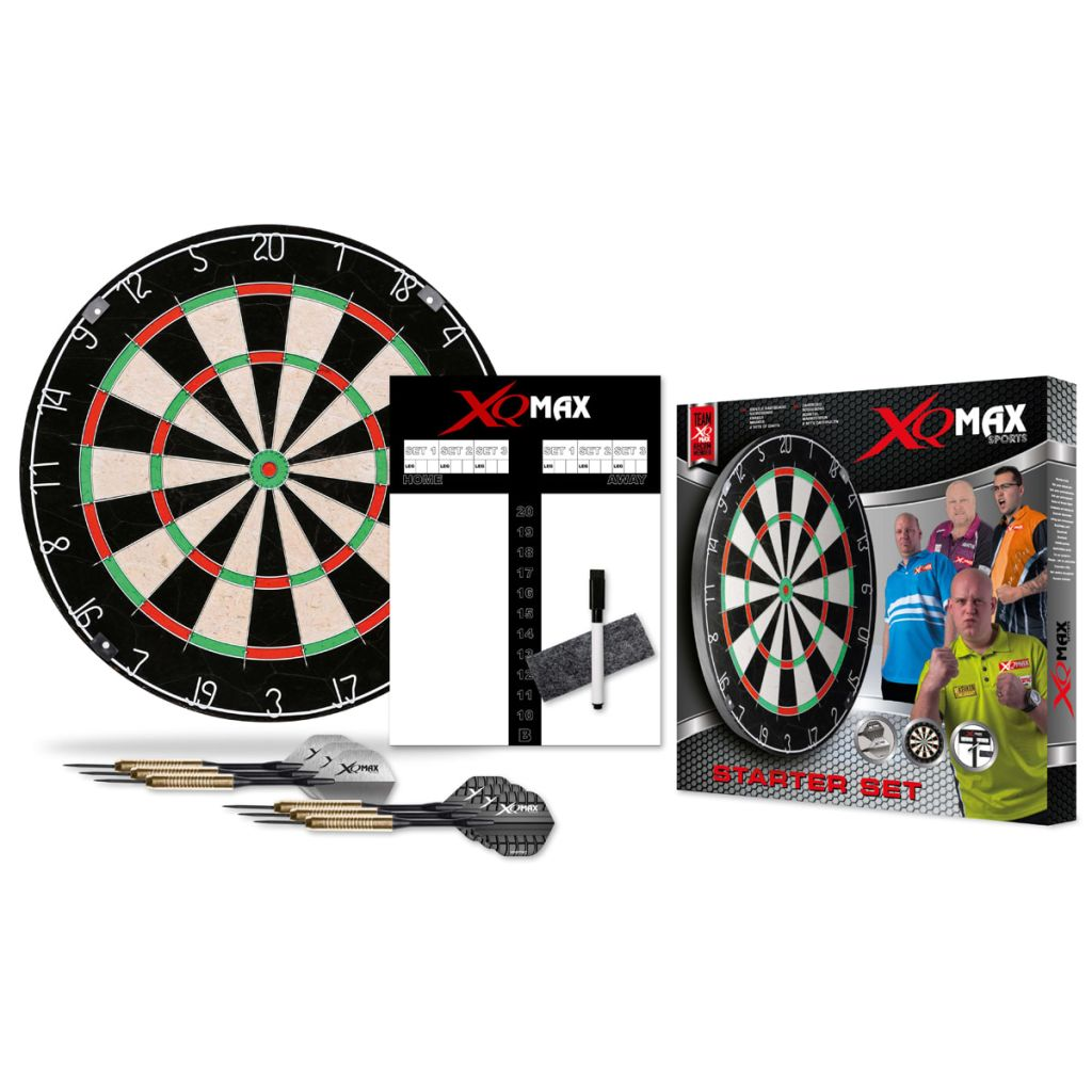 XQmax Darts Set placă de darts StarterSet, fibre sisal, QD7000040 imagine vidaxl.ro