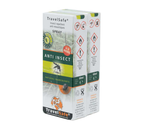 Travelsafe Spray anti-moustiques naturel 60 ml 2 pcs[1/2]