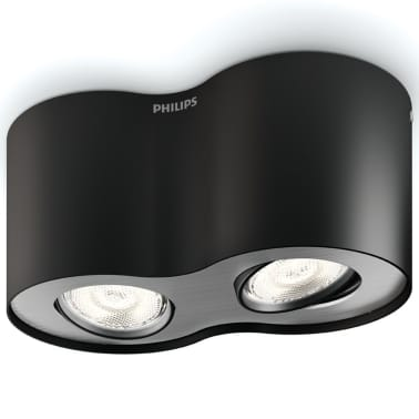 Philips myLiving LED Strahler Phase 2 x 4,5 W Schwarz 533023016[1/9]