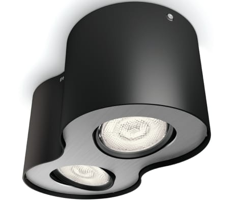 Philips myLiving LED Strahler Phase 2 x 4,5 W Schwarz 533023016[4/9]