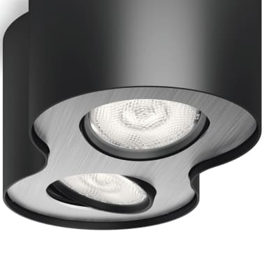 Philips myLiving LED Strahler Phase 2 x 4,5 W Schwarz 533023016[5/9]
