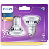 Philips Ampoule LED de projecteur 2 pcs 3,5 W 255 Lumens 929001217831