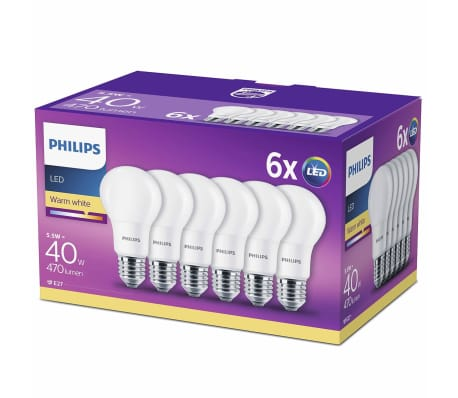 Philips LED Lampen 5,5 W 470 Lumen 6 St 929001234291[1/