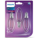 Philips LED Candle Bulbs 3 pcs Classic 2 W 250 Lumens 929001238373