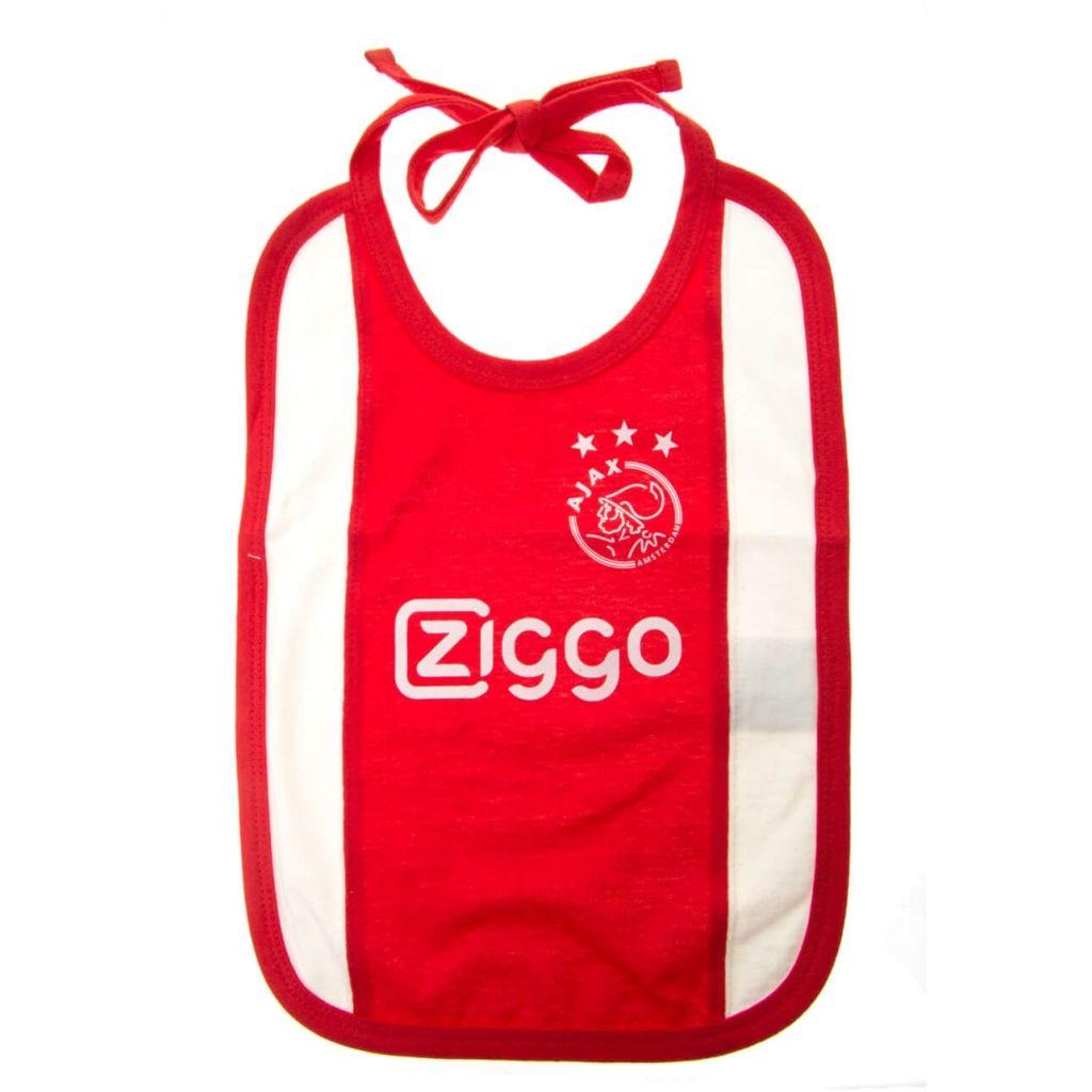 Afbeelding van Ajax slabbetje wit/rood