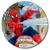 Spiderman feestbordjes Warrior 8x - feest thema bordjes
