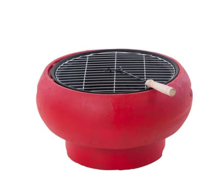 BBGRILL Portable Barbecue Red BBQ TUB-R