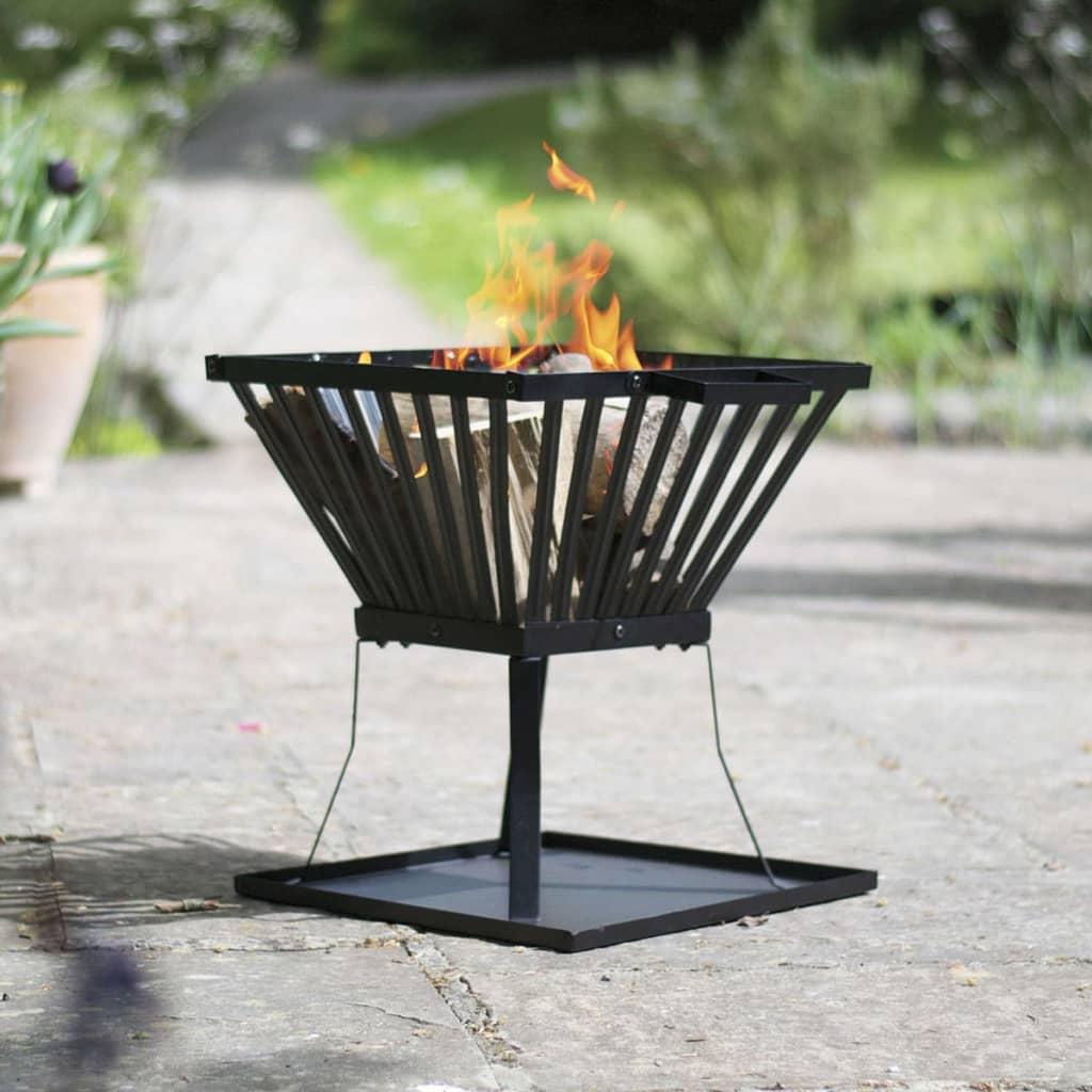 RedFire Coș pentru foc Denver, negru, 39 x 39 cm, oțel, 85015 poza vidaxl.ro