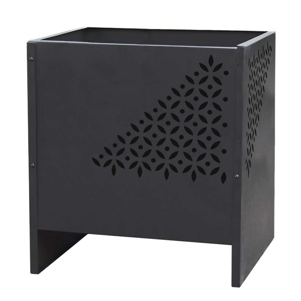 RedFire Bålpanne Mesa firkantet svart stål 85017