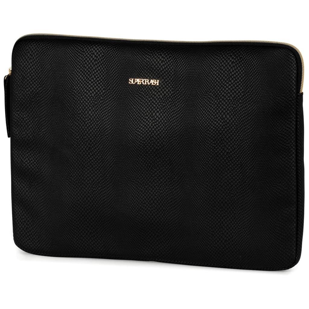 Afbeelding van Supertrash Stationery Team laptop sleeve zwart 24 x 33 cm