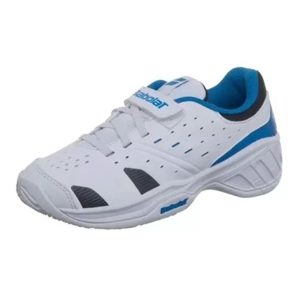Afbeelding van Babolat Driver 3 Junior Tennisschoenen Wit/Blauw Maat 27