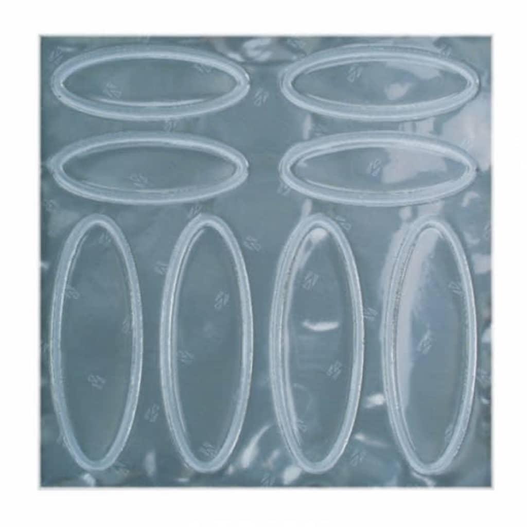 Afbeelding van 4 Act Helmstickers Ovaal Wit Reflecterend 10 X cm