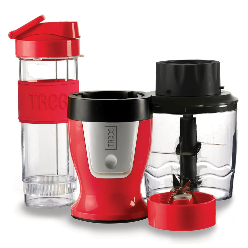Trebs 2-in-1 Smoothiemaker en hakmachine 600 ml rood 99336