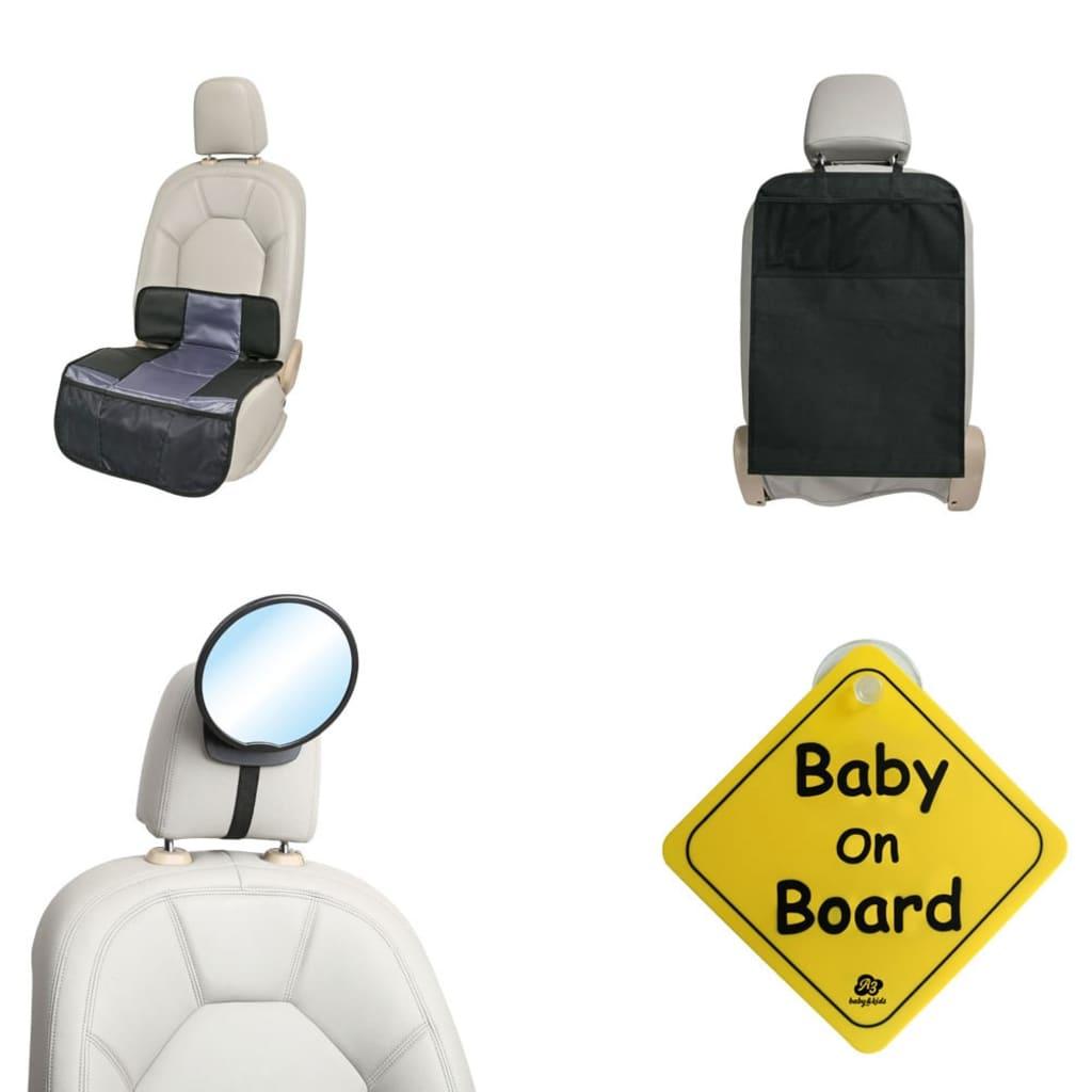 Afbeelding van A3 Baby & Kids A3 Baby & Kids 4-delige Baby autoaccessoireset zwart