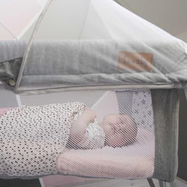 Soozly Babybett Reisebett mit Insektenschutz Grau 64655[7/11]