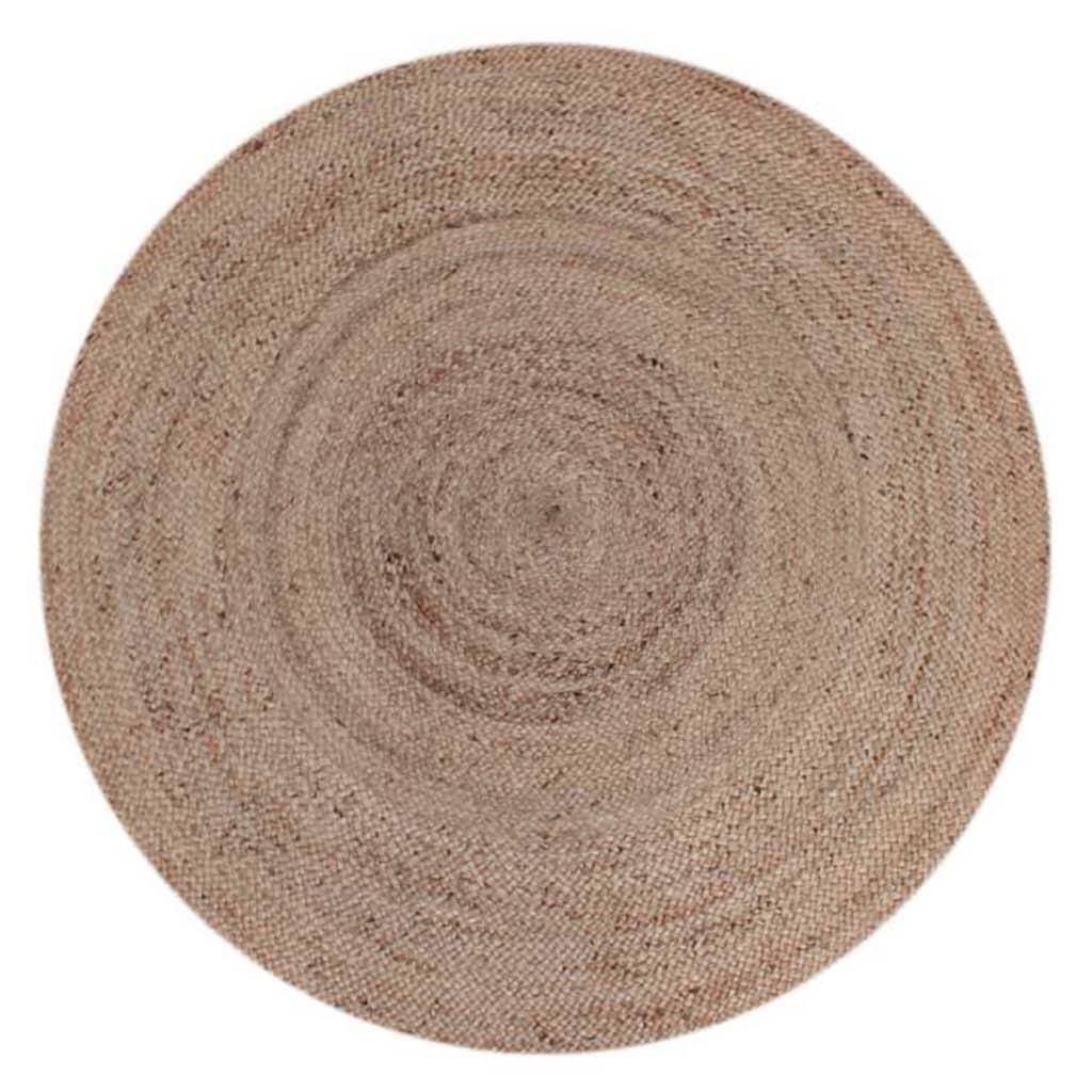 LABEL51 Covor de iută, rotund, 180 cm, natural poza vidaxl.ro