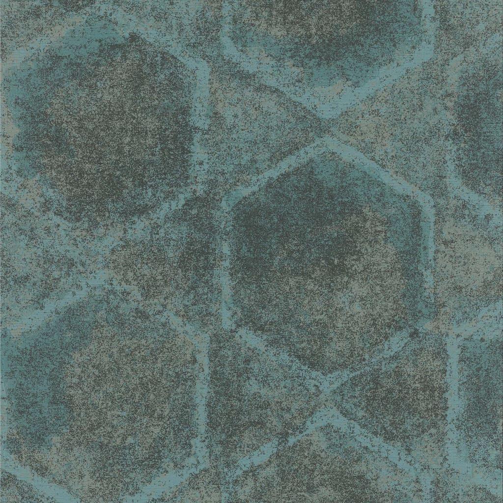 Topchic Tapet model hexagon, albastru și gri vidaxl.ro
