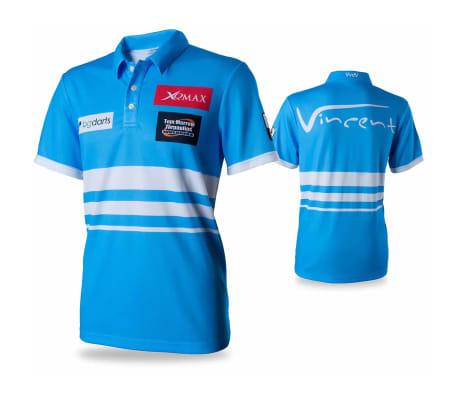 XQmax Darts T-shirt réplique de match VvdV Bleu Taille S QD9100020[1/6]