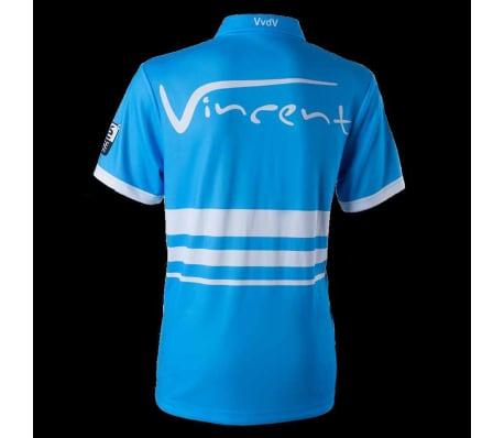 XQmax Darts T-shirt réplique de match VvdV Bleu Taille S QD9100020[3/6]