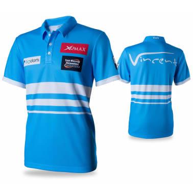 XQmax Darts T-shirt réplique de match VvdV Bleu Taille L QD9100040[1/6]