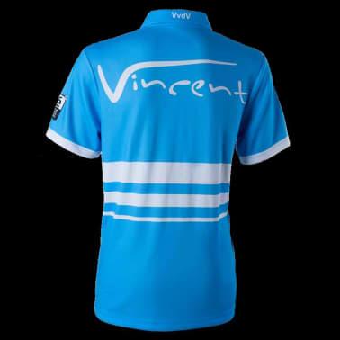 XQmax Darts T-shirt réplique de match VvdV Bleu Taille L QD9100040[3/6]