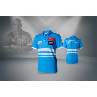 XQmax Darts T-shirt réplique de match VvdV Bleu Taille L QD9100040[4/6]