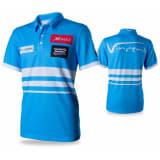 XQmax Darts VvdV replika matchskjorte blå størrelse XL QD9100050
