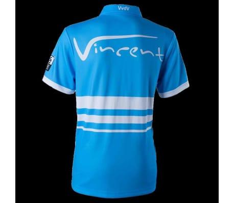 XQmax Darts T-shirt réplique de match VvdV Bleu Taille XL QD9100050[3/6]