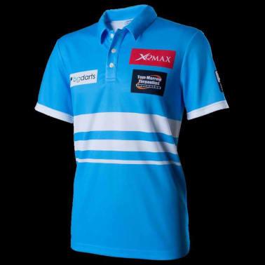 XQmax Darts T-shirt réplique de match VvdV Bleu Taille XL QD9100050[2/6]