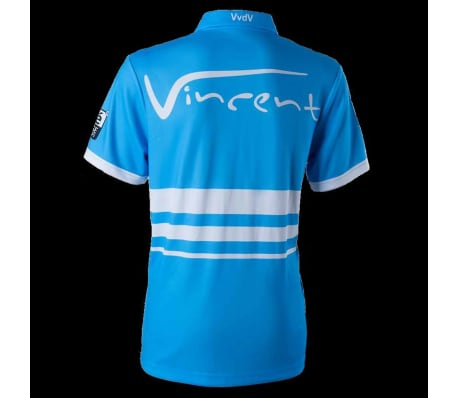 XQmax Darts T-shirt réplique de match VvdV Bleu Taille XXL QD9100060[3/6]