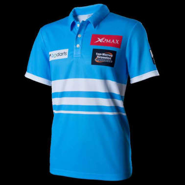 XQmax Darts T-shirt réplique de match VvdV Bleu Taille XXL QD9100060[2/6]