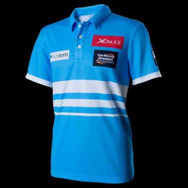 XQmax Darts T-shirt réplique de match VvdV Bleu Taille XXXL QD9100070[2/5]