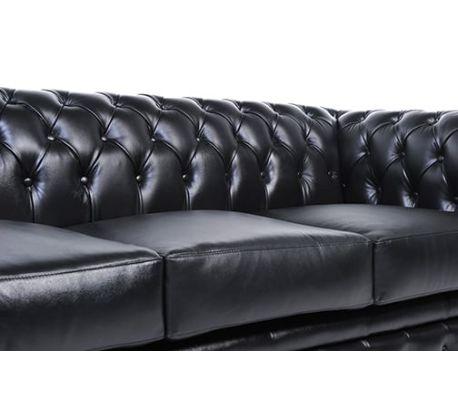 Original Chesterfield Black 6 Seater Vidaxlcouk