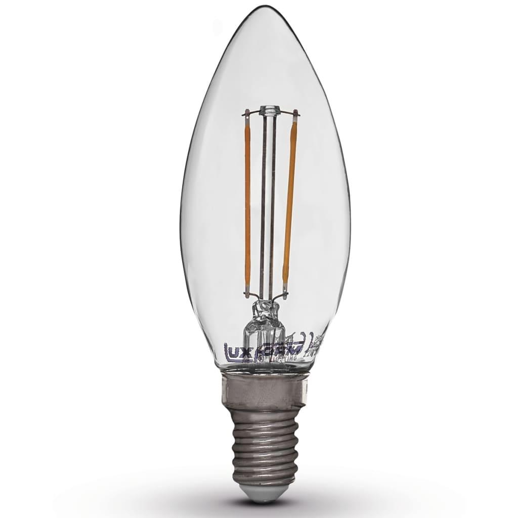 Luxform Sada 4 LED žárovek ve tvaru svíčky 2 W E14 230 V 2700 K