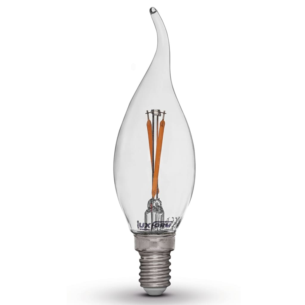 Luxform Sada 4 LED žárovek ve tvaru plamene E14 2 W 2200 K