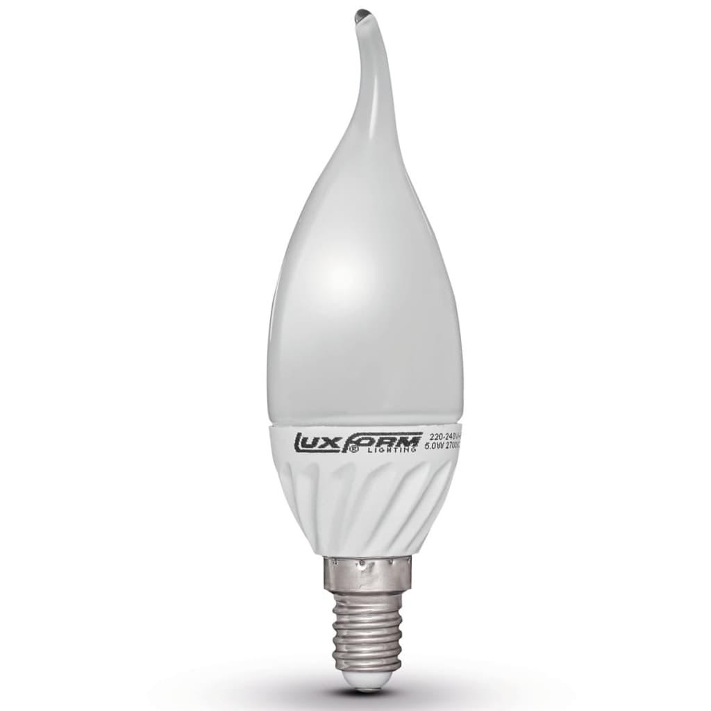 Luxform Sada 4 LED žárovek ve tvaru plamene E14 5 W 2700 K