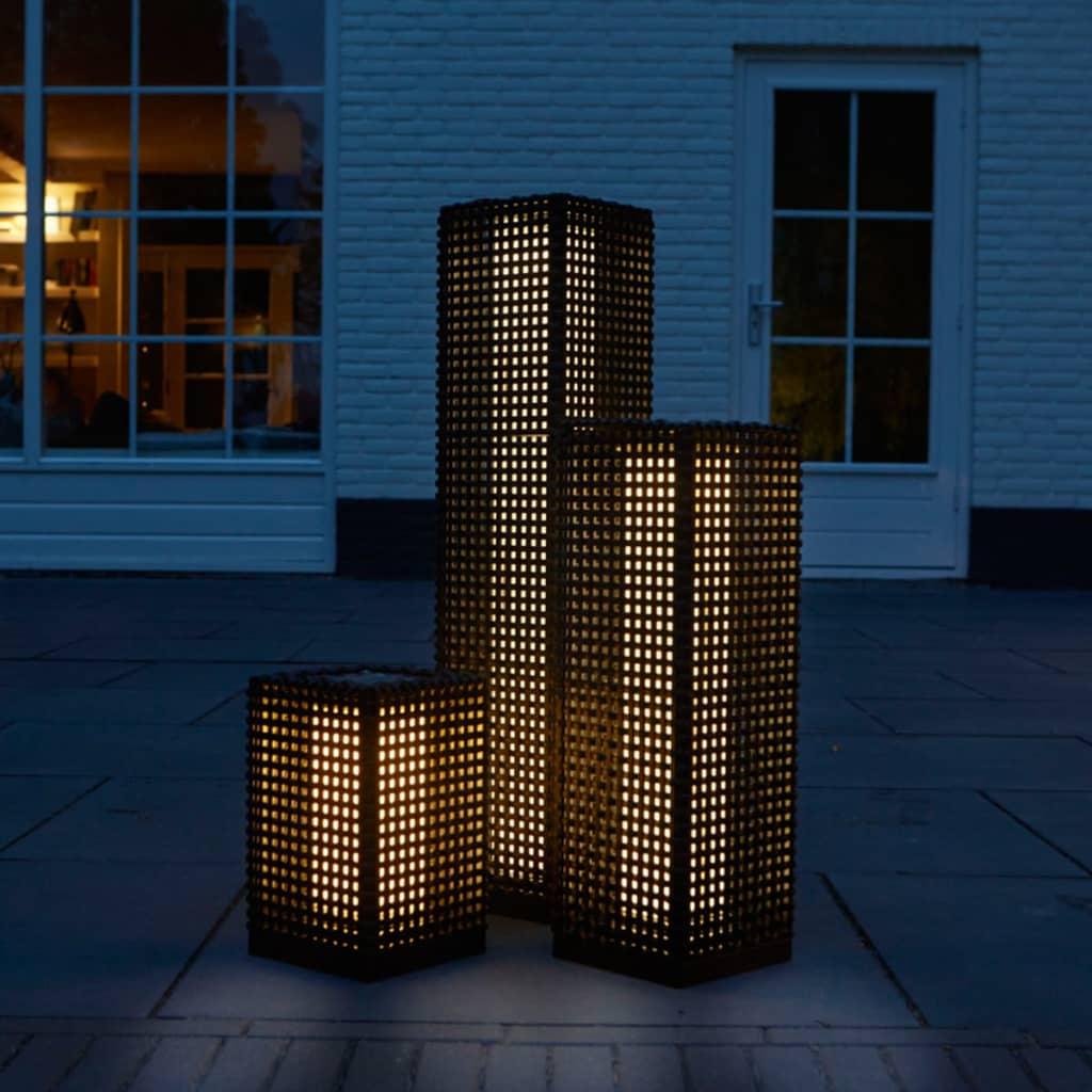 Luxform Lampă solară podea de grădină LED Martinique negru 69 cm 30042 imagine vidaxl.ro