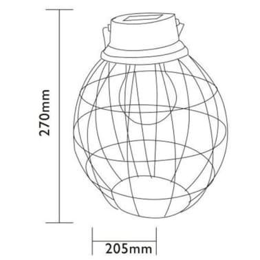 Luxform Solar LED Garten Hängeleuchte Tango Grün 30101[6/6]
