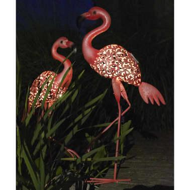 Luxform Lampe LED solaire de jardin Flamingo Rose 30111[3/4]