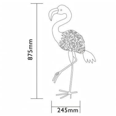 Luxform Lampe LED solaire de jardin Flamingo Rose 30111[4/4]