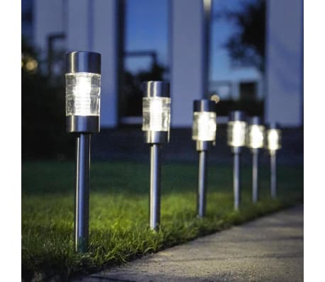 Luxform Solar LED Garten-Wegeleuchten Altea 4 Stk. Edelstahl 30425[5/6]